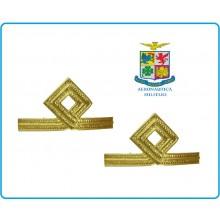 Coppia di Gradi Metallo Nuovo Modello Aeronautica Sottotenente Art.G11-ARS