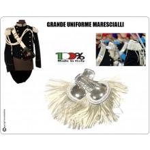 Coppia di Spalline Uniforme Storica GUS Carabinieri Argento + Argento - Bianco Grande Uniforme Marescialli  Art.NSD-GUS-AB