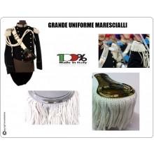 Coppia di Spalline Uniforme Storica GUS Carabinieri Argento + Bianco Grande Uniforme Art.NSD-GUS-OB