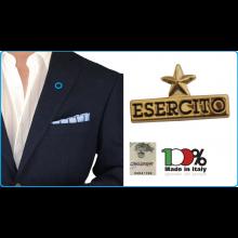 Pins Spilla da Bavero Giacca Logo Esercito Italiano Stella EI Prodotto Ufficiale  Art.EI0206