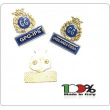 Spilla Distintivo Di Specialità GG Guardie Giurate Vigilanza Scegli la Mansione Art.430-TUTTI