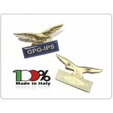 Spilla Aquila Distintivo Di Specialità Guardia Particolare Giurata Incaricato di Pubblico Sevizio   G.P.G. I.P.S Art.718-G.P.G.
