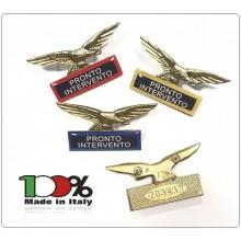 Spilla Aquila Distintivo Di Specialità GG Guardie Giurate Pronto Intervento Art.718-P.I.