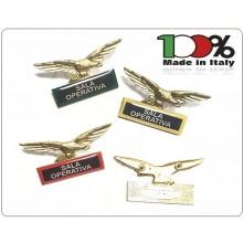 Spilla Aquila Distintivo Di Specialità GG Guardie Giurate Vigilanza Sala Operativa Art.718-S.O