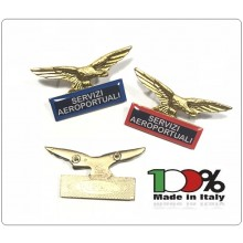 Spilla Aquila Distintivo Di Specialità GG Servizi Aereoportuali Art.718-S.A.