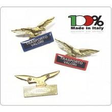 Spilla Aquila Distintivo Di Specialità GG Guardie Giurate Vigilanza Trasporto Valori Art.718-T.V