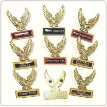 Spilla Aquila Grande Distintivo Di Specialità GG Guardie Giurate Vigilanza Soccorso Nuovo Modello Art.718-AG
