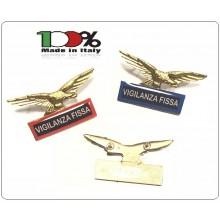 Spilla Aquila Distintivo Di Specialità GG Guardia Giurata Vigilanza Fissa  Art.718-V.F