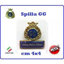 Spilla Armetta New Distintivo Di Specialità GG  VIGILANZA FISSA Art.430-7