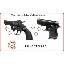 Cartucce a Salve Munizioni Colpi a Salve Per Pistola a Salve 6 mm a Salve per Revolver e Automatiche Confezione 100 Colpi Art.NSD-6MM
