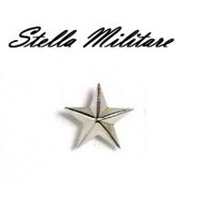 Stella Stellette Militari Argento a Vite 5 Punte cm 2.50 Art.S2