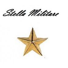 Stella Stellette Militari Oro a Vite 5 Punte cm 2.50 Art.S3