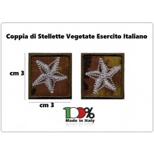 Coppia Stellette Vegetate Militari Esercito Italiano per Vegetata Esercito Aeronautica Art.STELLA-EI