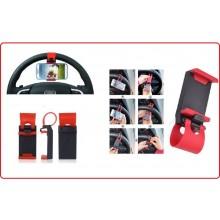 Supporto Universale Volante Auto o Manubrio Bicicletta per Iphone Cellulari IPOD MP3 MP4 Art.SUPP-2