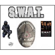 Placca in Metallo Police Officer LAPD SWAT Originale Nuova per Portafoglio o Divisa Art.441055-1257