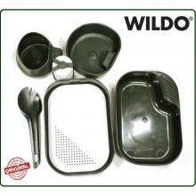 Posate e Pentole da Campeggio Versione Militare WILDO Camp a Box Kit Art.14671000