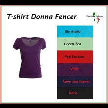 T-shirt Maglietta Maglia Donna Manica Corta Fencer Art.FENCER