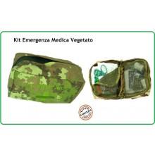 Kit Medico di Primo Soccorso Kit First Aid 3 Vegetato  Esercito Marina Aeronautica Emergenza Art.01403