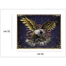 Targa Metallo Grande Live To Ride Art.415151-2404