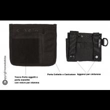 Tasca Porta Oggetti  ADMIN con Screech MILTEC colore Nero da Cinturone M.O.L.L.E. GPG IPS VIGILANZA Art. 13486002