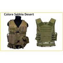 Tactical Vest - Gilet Tattico Modulare Corpetto Tattico USMC Mil-Tec Coyote Tan  Art.10720005