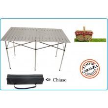 Tavolo Tavolino Richiudibile Campeggio Pic Nic Alluminio Leggerissimo 70x70x120 cm Art.31875
