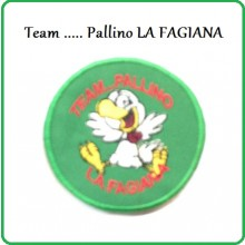 Patch Ricamata con Velcro Team...Pallino LA FAGIANA Soft Air Caccio Art.NSD-FAGIANA