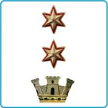 Coppia di Gradi in Metallo da Tenente Colonnello Comandante con Chiusura a Vite  Art.EI-M3