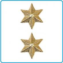 Coppia di Gradi in Metallo da Tenente con Chiusura a Vite  Art.EI-M8