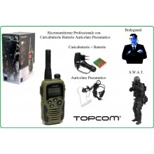 Ricetrasmittente Professionale Twintalker 9500 TOPCOM Impermeabile Militare Sicurezza Esercito Soft Air Bodyguard Art.464261