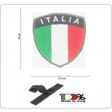 Toppa Patch Scudetto 3D Ricamato con Velcro Bandiera Italia cm 7.6x8.00 INC101 Art.NSD-RIC