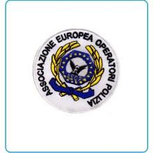 Patch Toppa Ricamata con Velcro A.E.O.P. Ass. Europea operatori di Polizia cm 5 Art.AEOP-TOP1