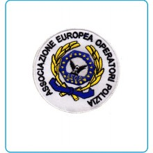 Patch Toppa Ricamata con Velcro A.E.O.P. Ass. Europea operatori di Polizia cm 8 Art.AEOP-TOP2