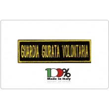 Patch Toppa Ricamata con Velcro GGV Guardia Giurata Volontaria cm 3x10 Art.GGV-TOP