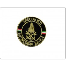 Patch Toppa Ricamata con Velcro Vigili Del Fuoco Specialista Antincendio Navale Art.VVFF-NAV