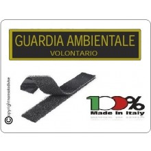 Patch Toppa con Velcro Guardia Ambientale Volontario  Art.NSD-GAV