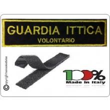 Patch Toppa con Velcro Guardia Ittica Volontaria Art.NSD-GIV