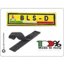 Patch Ricamo a Macchina Con Velcro Protezione Civile BLS-D Art.NSD-PC2