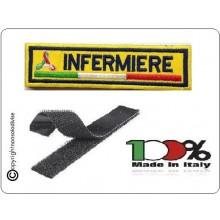 Patch Ricamo a Macchina Con Velcro Protezione Civile INFERMIERE Art.NSD-PC4