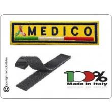 Patch Ricamo a Macchina Con Velcro Protezione Civile MEDICO Art.NSD-PC5