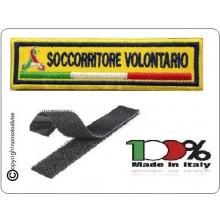 Patch Ricamo a Macchina Con Velcro Protezione Civile SOCCORRITORE VOLONTARIO Art.NSD-PC9