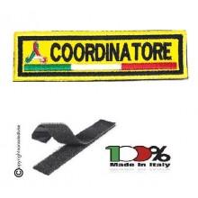 Patch Ricamo a Macchina Con Velcro Protezione Civile COORDINATORE NEW  Art. NSD-PC11X