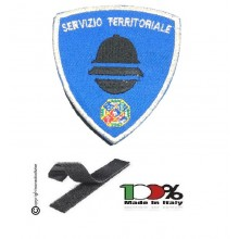 Patch Scudetto con Velcro Polizia Locale Servizio Territoriale Lazio  Art. PL-SVL