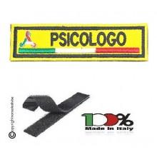 Patch Ricamo a Macchina Con Velcro Protezione Civile PSICOLOGO NEW Art. NSD-PC11P