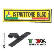 Patch Ricamo a Macchina Con Velcro Protezione Civile ISTRUTTORE BLSD NEW Art. NSD-PC11BL
