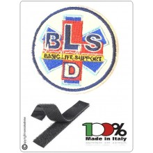 Patch Ricamo Toppa BLS Basic Life Support D con Velcro Art.BLS-D