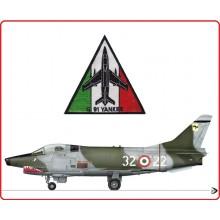 Patch Toppa con Velcro  Ricamata Aeronautica Militare italiana G 91 YANKEE Art.AM-G91