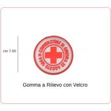 Toppa Patch Gomma con Velcro Croce Rossa italiana CRI Convenzione di Ginevra Art.EP20