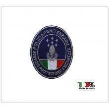 Patch Toppa con Velcro Ricamata Polizia Penitenziaria Servizio Protezione  e Sicurezza  Art.T-PPS