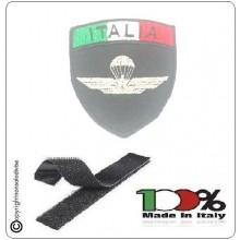 Patch Scudetto con Velcro Paracadutisti Folgore Parà Militare Nero + Bandiera Art.PAR-X
